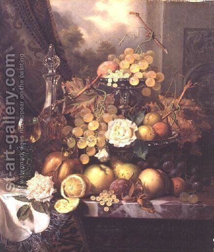 Still life with fruit by Henry George Todd - Reproduction Oil Painting