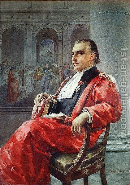 Jean-Martin Charcot 1825-93 August 1881 by Eduardo Tofano - Reproduction Oil Painting