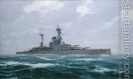 HMS Resolution, 1923 by Duff Tollemache - Reproduction Oil Painting