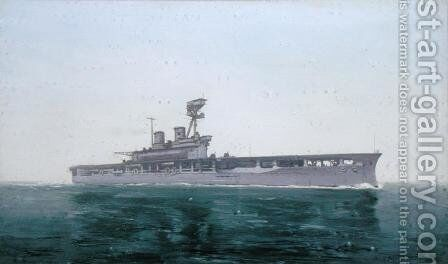 HMS Eagle, 1922 by Duff Tollemache - Reproduction Oil Painting