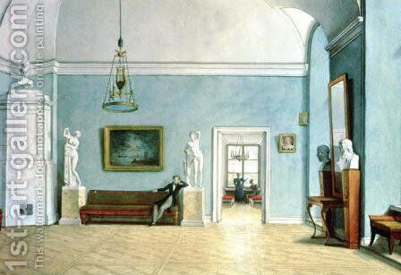 Neo-Classical Interior, c.1820 by Fedor Petrovich Tolstoy - Reproduction Oil Painting