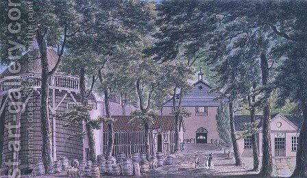 Messrs Beaufoy, Vinegar Distillery, formerly Cupor Gardens, 1798 by Charles F. Tomkins - Reproduction Oil Painting