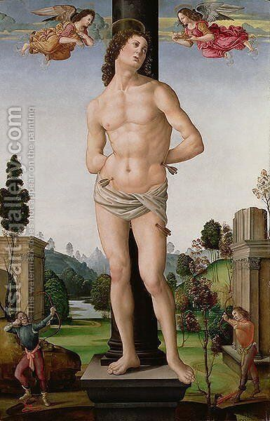 Martyrdom of St. Sebastian, c.1490-95 by di Piero Tommaso - Reproduction Oil Painting