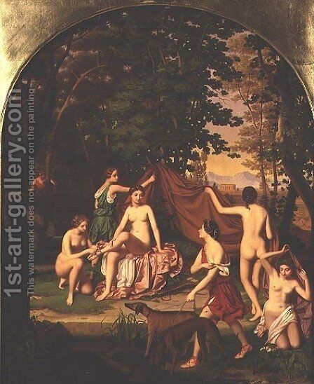 Diana and her Nymphs by Benno Friedrich Tormer - Reproduction Oil Painting