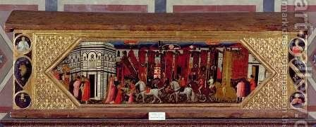 Cassone decorated with a scene of the Palio of S. Giovanni 2 by Giovanni Francesco - Reproduction Oil Painting