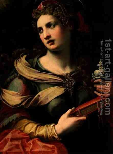 St. Mary Magdalene, 1560s by Michele di Ridolfo del Ghirlandaio (see Tosini) - Reproduction Oil Painting