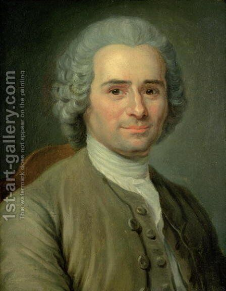Jean-Jacques Rousseau 1712-78 by Maurice Quentin de La Tour - Reproduction Oil Painting