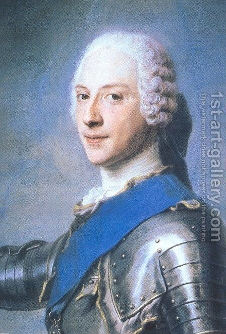 Prince Charles Edward Stewart, 1720-88 by Maurice Quentin de La Tour - Reproduction Oil Painting