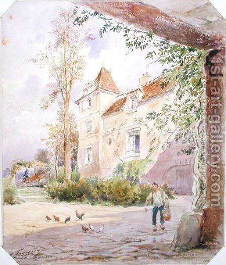 The House of Armande Bejart 1642-1700 in Meudon, c.1906 2 by Henri Toussaint - Reproduction Oil Painting