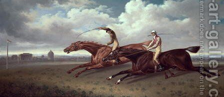 A Match between Sir Joshua and Filho da Puta, 1819 by Charles Towne - Reproduction Oil Painting