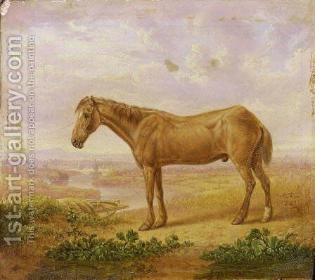 Old Billy, a Draught Horse, Aged 62 by Charles Towne - Reproduction Oil Painting