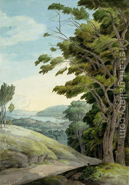 View from Rydal Park by Francis Towne - Reproduction Oil Painting