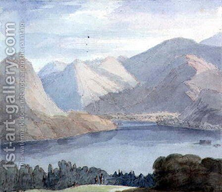 Ullswater from Gowbarrow Park, 1786 by Francis Towne - Reproduction Oil Painting