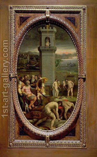 Danae, 1572 by Bartolomeo di Mariano Traballesi - Reproduction Oil Painting