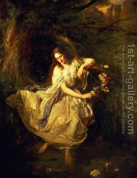 Ophelia by (attr. to) Trautschold, Carl F. W. - Reproduction Oil Painting