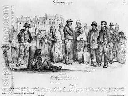 The Emancipated People, from La Caricature, engraved by Delaporte, 1831 by Charles Joseph Travies de Villiers - Reproduction Oil Painting