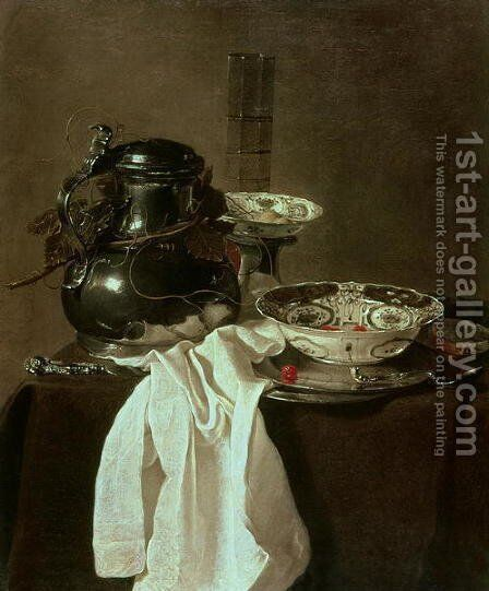 Pewter, China and Glass, 1649 by Jan Jansz. Treck - Reproduction Oil Painting