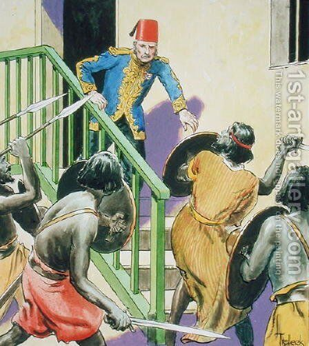General Gordon 1833-85 Hero of Khartoum, from Peeps into the Past, published c.1900 by - Trelleek - Reproduction Oil Painting