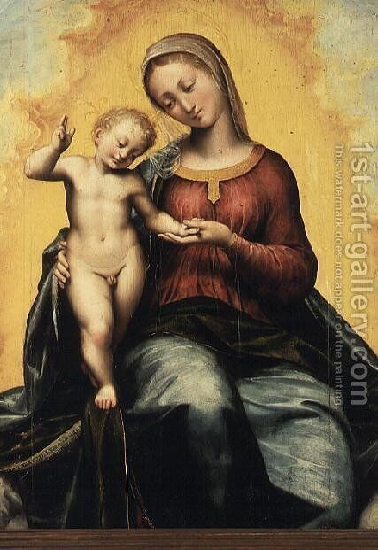Madonna and Child by Giovanni Battista (Il Malosso) Trotti - Reproduction Oil Painting