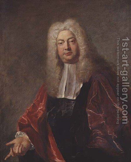 Jean Francois Bouquet, Magistrate of Paris, 1724 by Jean François de Troy - Reproduction Oil Painting