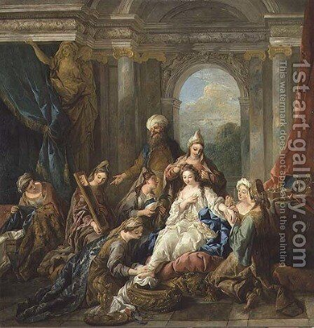 The Toilet of Esther, 1738 by Jean François de Troy - Reproduction Oil Painting