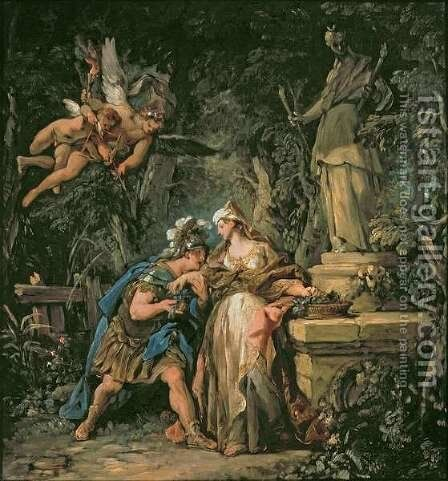 Jason Swearing Eternal Affection to Medea, 1742-43 by Jean François de Troy - Reproduction Oil Painting