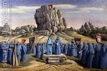 Gorsedd at Roche, 1933 by Herbert Truman - Reproduction Oil Painting