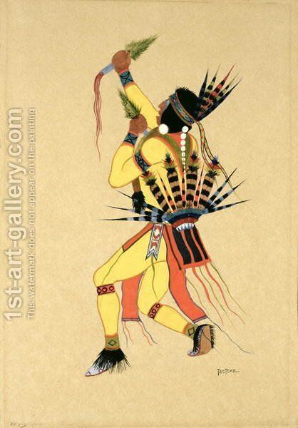 Dancer, 1929 by Monroe Tsatoke - Reproduction Oil Painting