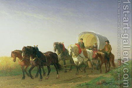 The Covered Wagon, 1868 by Charles Philogene Tschaggeny - Reproduction Oil Painting