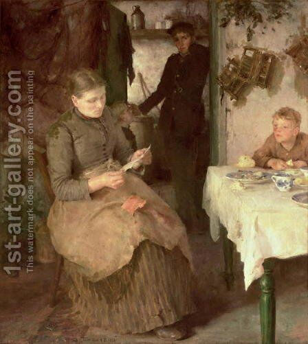 The Message, 1890 by Henry Scott Tuke - Reproduction Oil Painting