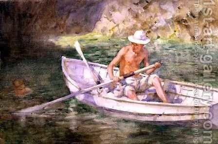 Green Waters, 1911 by Henry Scott Tuke - Reproduction Oil Painting