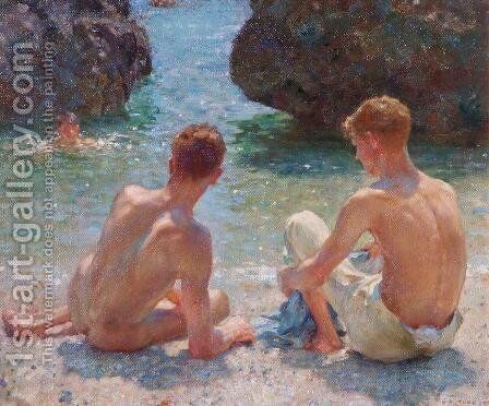 The Critics, 1927 by Henry Scott Tuke - Reproduction Oil Painting
