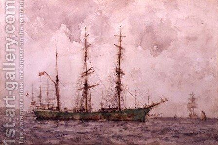Danish Barque, Falmouth Harbour by Henry Scott Tuke - Reproduction Oil Painting