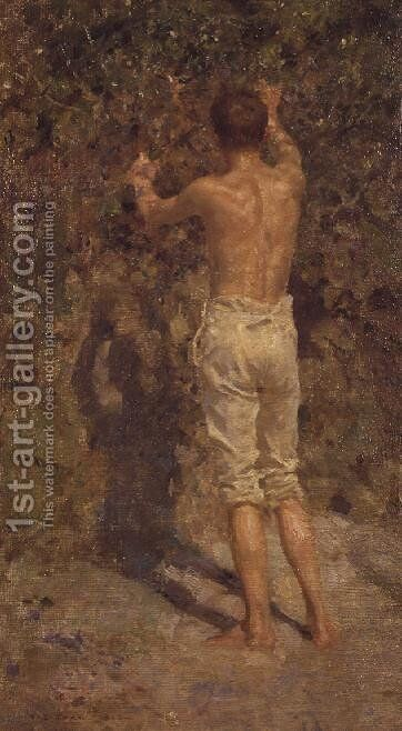 The Back of Charlie, 1913 by Henry Scott Tuke - Reproduction Oil Painting