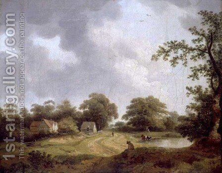 Suffolk Landscape by Ebenezer Tull - Reproduction Oil Painting