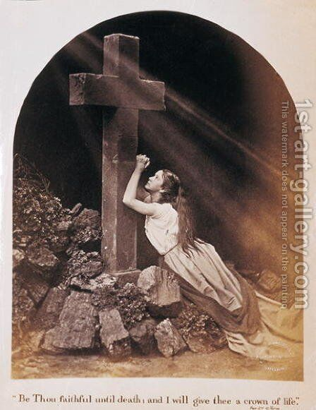 Be thou faithful until death and I will give thee a crown of life, c.1896 by C. Tune - Reproduction Oil Painting
