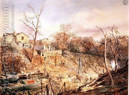 Macclesfield Bridge and the Canal after the Regents Park Explosion, 1874 by Eliza Turck - Reproduction Oil Painting