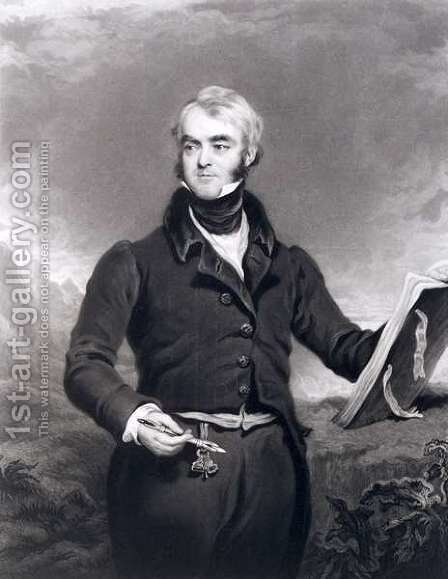 William Brockedon 1787-1854, 1834 by C. Turner - Reproduction Oil Painting