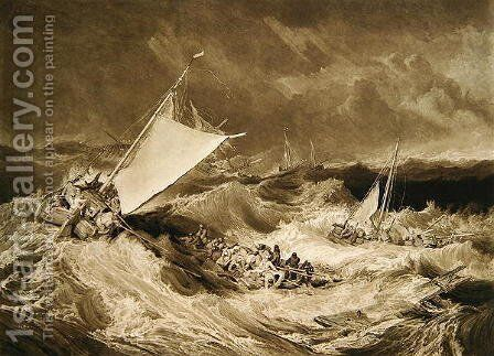 A Shipwreck, 1806 by Charles Turner - Reproduction Oil Painting