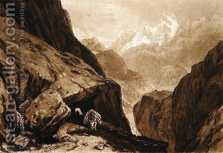 Mt. St. Gothard by Charles Turner - Reproduction Oil Painting