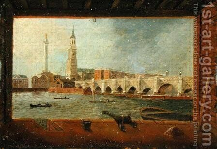 A View of London Bridge by Daniel Turner - Reproduction Oil Painting