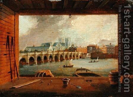 A View of Westminster Bridge by Daniel Turner - Reproduction Oil Painting
