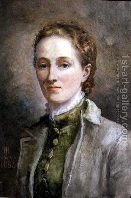 Self Portrait, 1882 by Mary Fraser Tytler - Reproduction Oil Painting