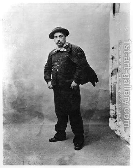 Lucien Guitry 1860-1925 as Coupeau in LAssommoir by Emile Zola 1840-1902 1900 by - Sabourin - Reproduction Oil Painting