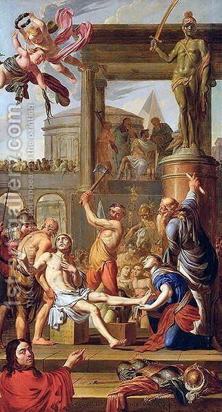 The Martyrdom of St. Adrian, 1659 by Adrien Sacquespee - Reproduction Oil Painting