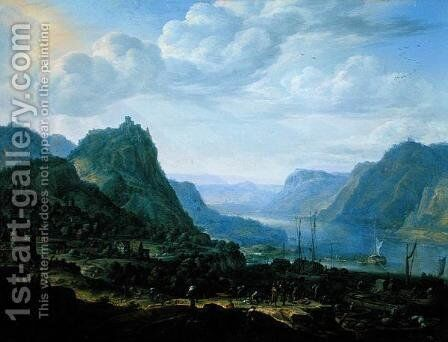 View on the Rhine, 1672 by Herman Saftleven - Reproduction Oil Painting