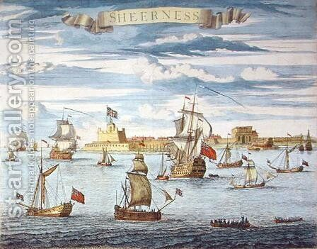 Sheerness, Kent, engraved by Johannes Kip 1652-1722 by Isaac Sailmaker - Reproduction Oil Painting