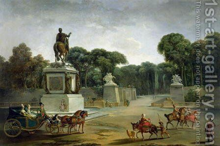 The Entrance to the Tuileries from the Place Louis XV in Paris, c.1775 by Jacques-Philip-Joseph de Saint-Quentin - Reproduction Oil Painting