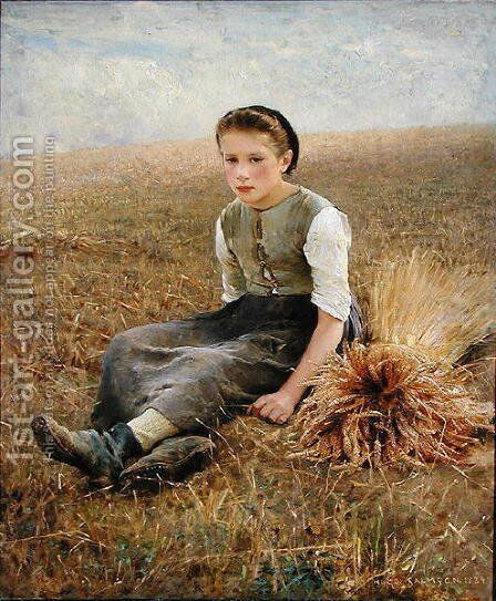The Little Gleaner, 1884 by Hugo Federick Salmson - Reproduction Oil Painting