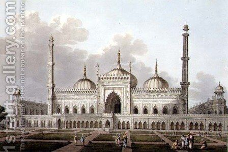 Mosque at Lucknow, plate VI, engraved by L. Hill, 1809 by (after) Salt, Henry - Reproduction Oil Painting
